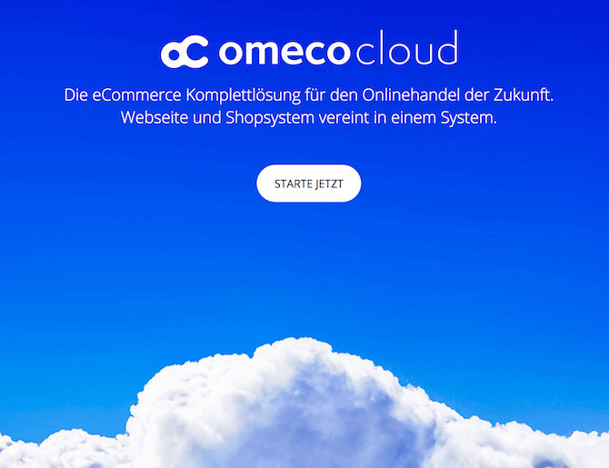 OmecoCloud: Onlineshop + Webseite bereits ab 19 € mtl.