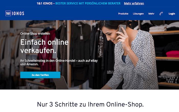 Shop login 1&1 IONOS by