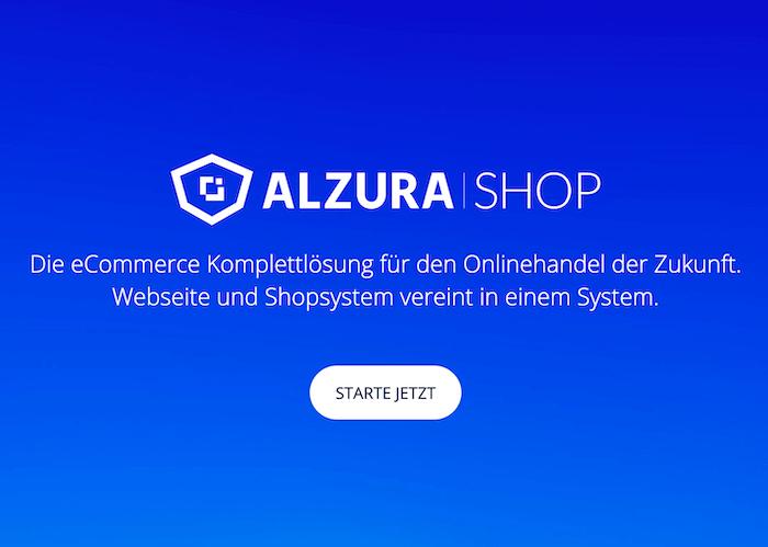 ALZURA Shop: Onlineshop + Webseite für 19 € mtl.